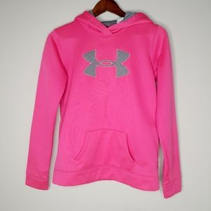 Under Armour Pink Hooded Sweatshirt Youth XL
